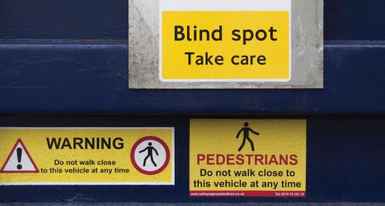 pedestrian warning on hgv