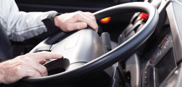driver at wheel
