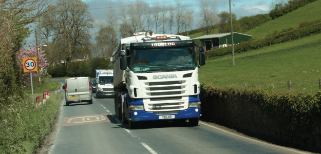 residential road lorry