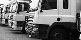 row of lorries